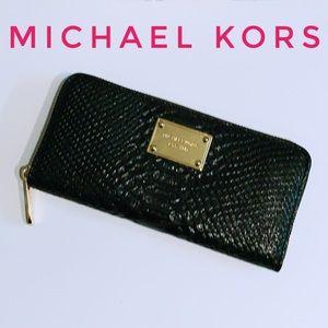 Michael Kors leather zip around continental wallet